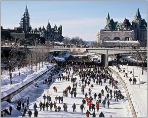 My favourite memory of Carleton — skating on the Rideau Canal.
