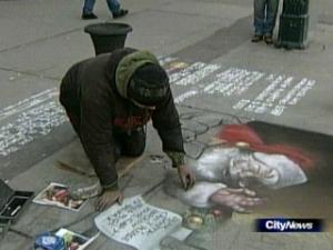 Dave Johnson brings Santa to life.