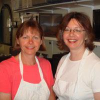 Fabulous food bankers Shawna McPeek and Paula Quinn