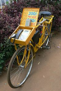 Wheel call: Uganda pay phone