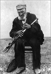 No, this is not my grandfather, it's Tom Carthy, an old Irish Uilleann piper from Kerry 1799-1904.
