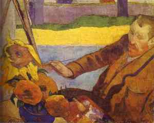 "Paul Gaugin's ""Van Gogh Painting Sunflowers"""