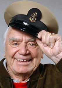 Oscar-winner Ernest Borgnine's real claim to fame? ... He was the first centre square in the original version of the TV game show, Hollywood Squares.