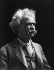 A dapper dresser, that Mark Twain.