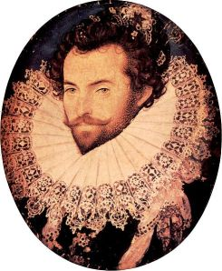 16th-century hottie Sir Walter Raleigh workin' the puffy shirt