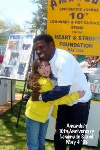 Lemonade Stand hero Amanda, 12, with Pinball Clemons