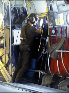 """On Guard for Thee,"" painted by Ardell Bourgeois of the Canadian Forces Artists Program"