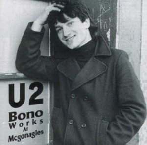 A young Bono ... before he grew sunglasses.