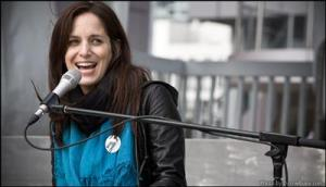 "Watch out for Chantal Kreviazuk ""Busking for Change"" in downtown Toronto."