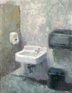 """Ladies Room 5am"" by California painter William Wray."