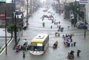 The flood gates open in Manila.