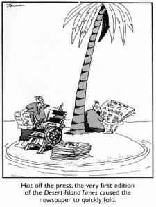 newspaper cartoon