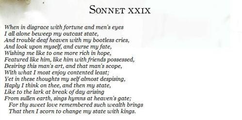 sonnet29