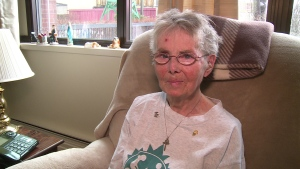 Mary Cogswell, who is legally blind, says the Sobeys' staff have helped walk her home for about five years. (Photo: CBC)